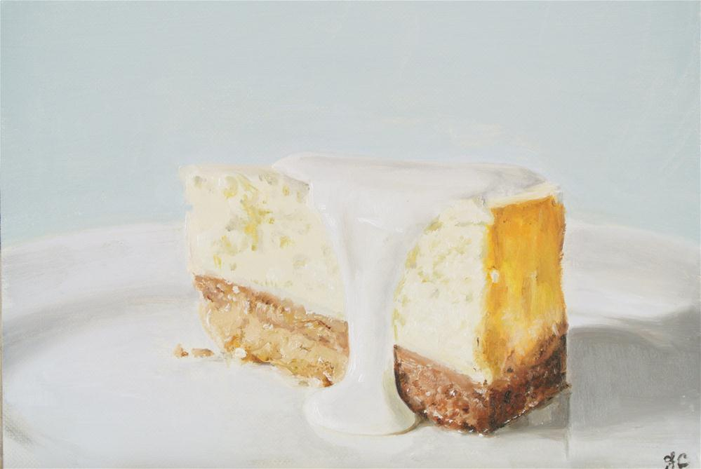 """Cheesecake with Cream"" original fine art by James Coates"