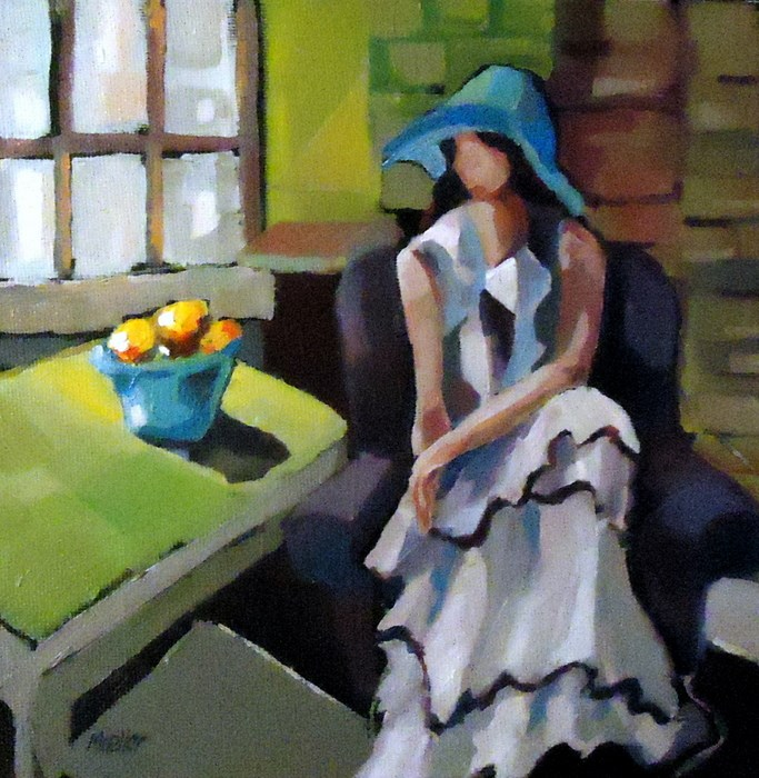 """Ruffles and Fruit"" original fine art by Laurie Mueller"