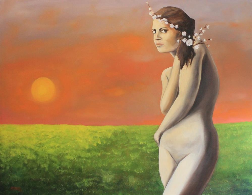 """Nude in Sunset"" original fine art by Daniel Varney"