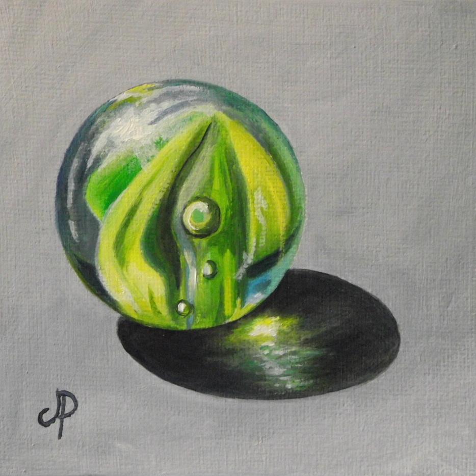 """Glass Marble"" original fine art by Jane Palmer"