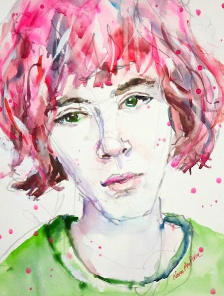 """rosy locks"" original fine art by Nora MacPhail"