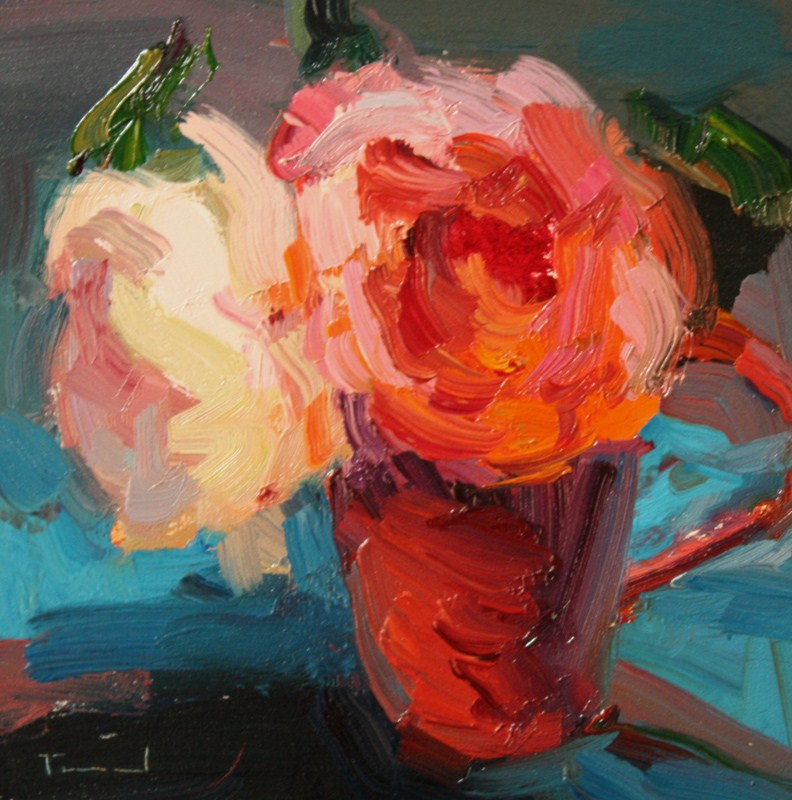 """Two Roses"" original fine art by Kathryn Townsend"