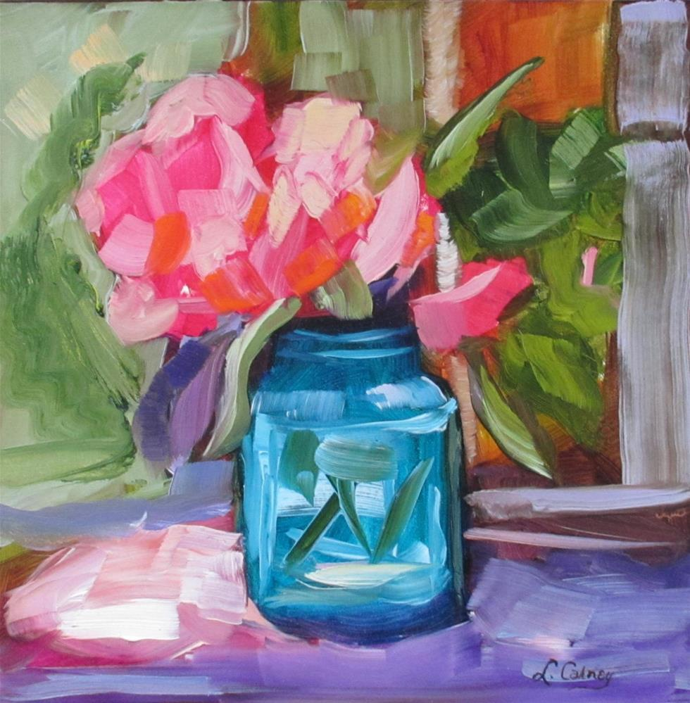 """In the Pink"" original fine art by Linda Carney"