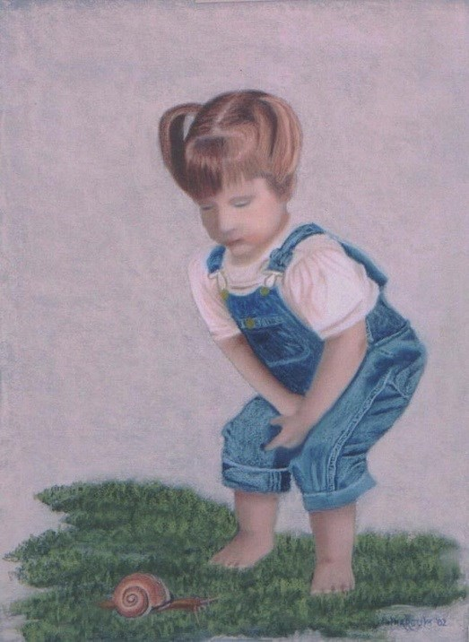 """Curious Girl"" original fine art by John Marcum"