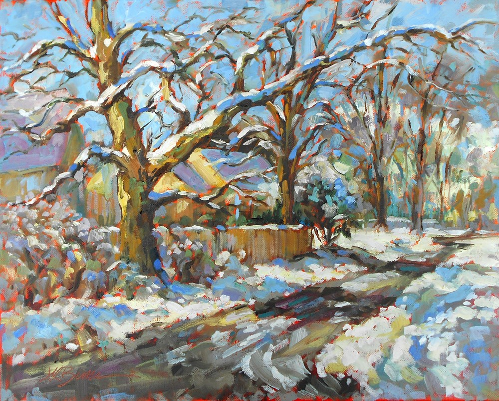 """Winter's Retreat"" original fine art by Jeanne Bruneau"
