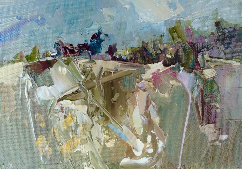 """Chalk Hill"" original fine art by Anne Wood"