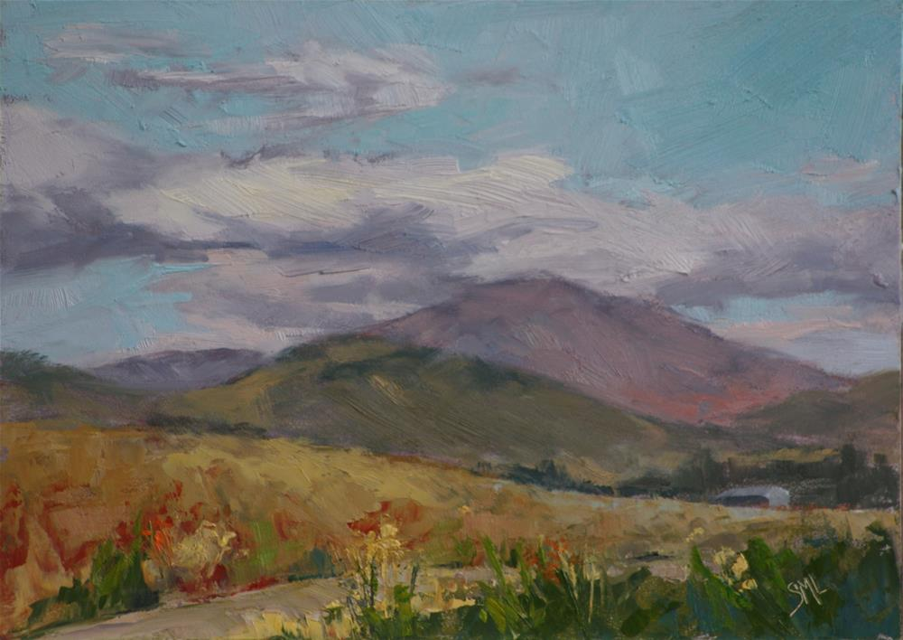 """Red Rocks in the Distance"" original fine art by Sheila Marie"