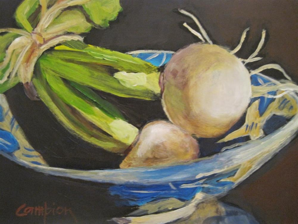 """458 Turnips aka Lifit"" original fine art by Diane Campion"