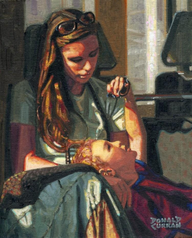 """Me and Mom"" original fine art by Donald Curran"