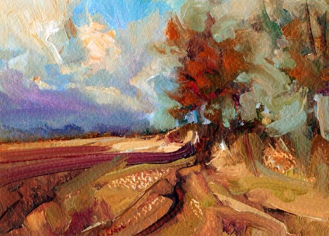"""Autumn Fields"" original fine art by Anne Wood"