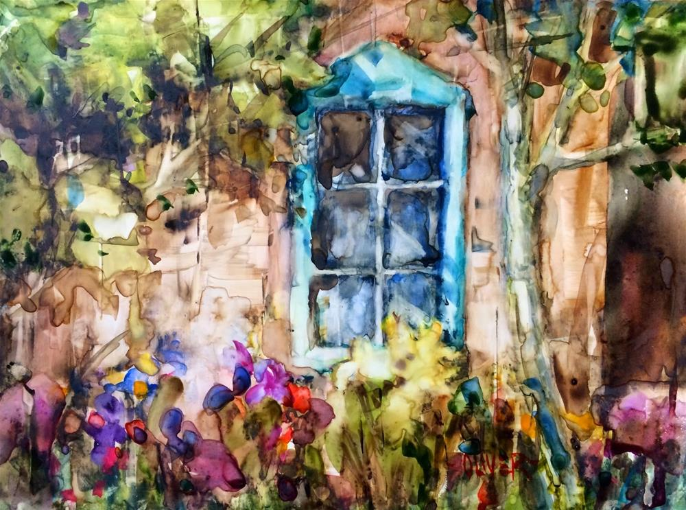 """New Mexico Window"" original fine art by Julie Ford Oliver"