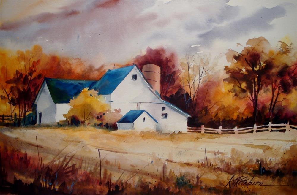 """""""Fall on the Farm"""" original fine art by Kathy Los-Rathburn"""