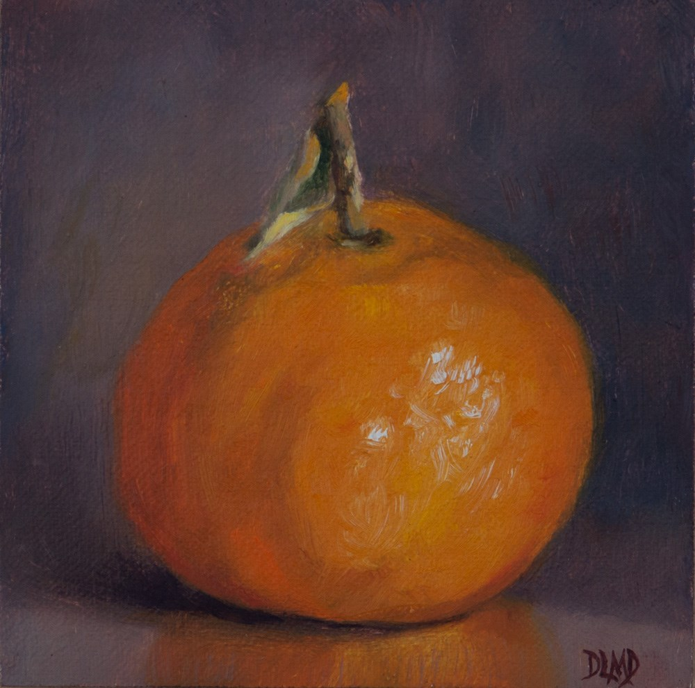 """Orange & Plump"" original fine art by Debbie Lamey-Macdonald"
