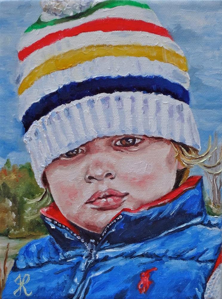 """Liam"" original fine art by Jacinthe Rivard"