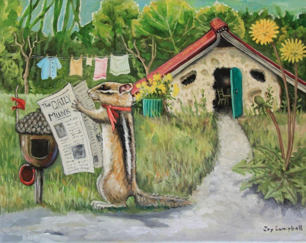 """Bread House at Garden's Edge"" original fine art by Joy Campbell"