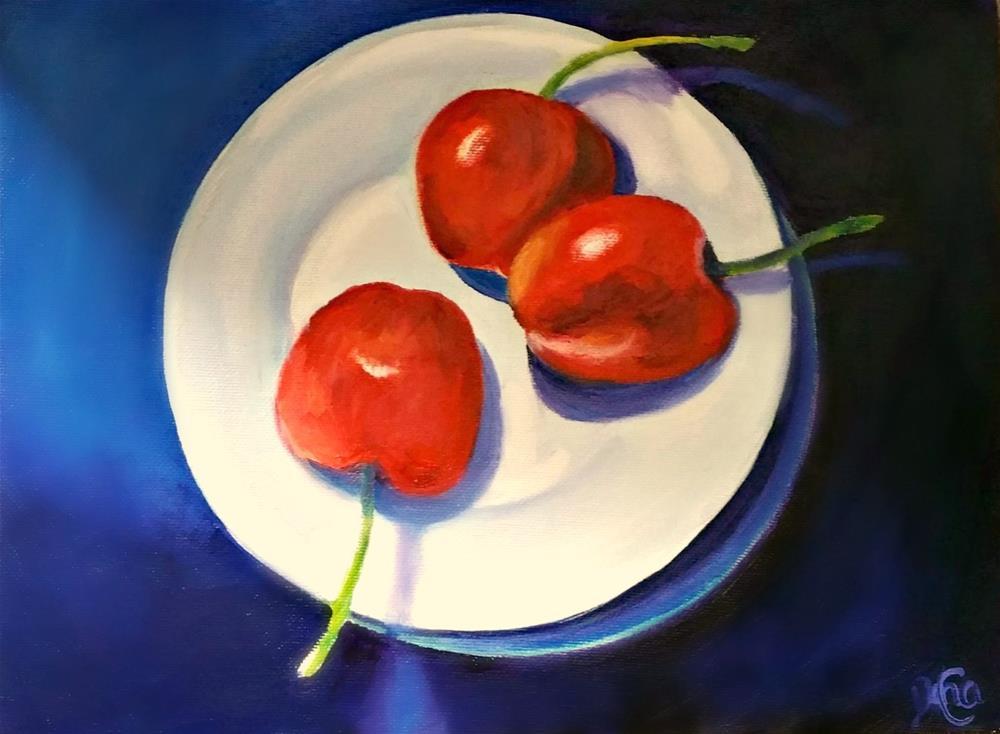 """""""Cherries 3"""" original fine art by Dana C"""