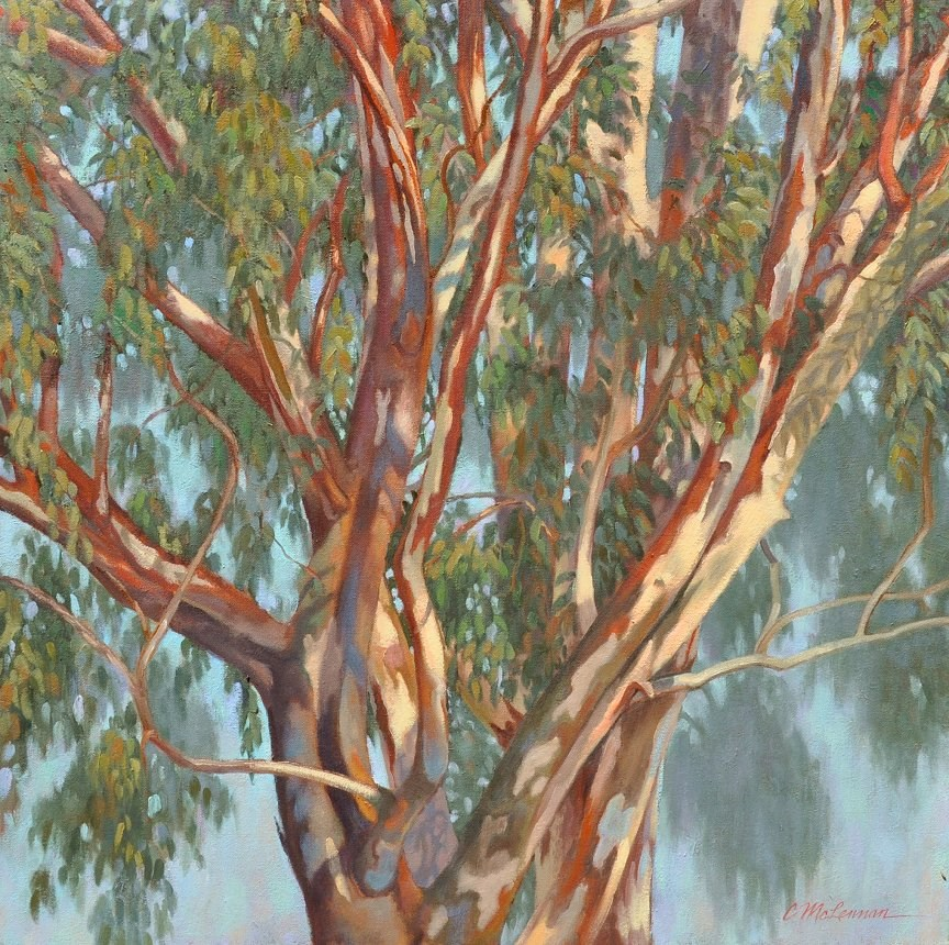 """Eucalyptus tangle"" original fine art by Connie McLennan"