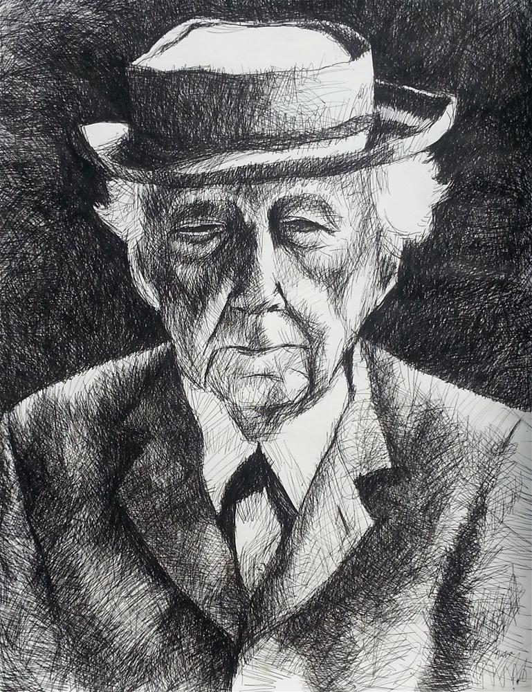 """Frank Lloyd Wright"" original fine art by Nava Judith"