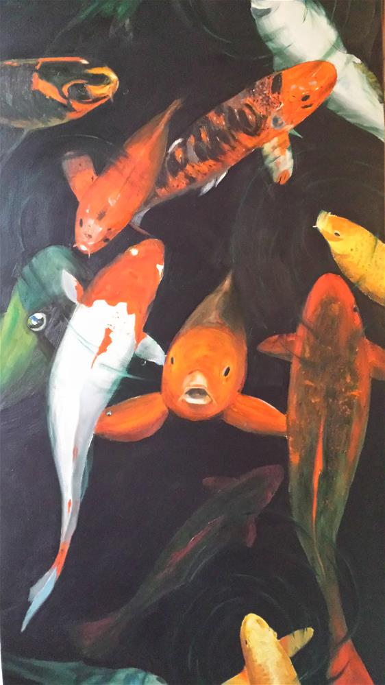 """Koi Fish"" original fine art by Kenny Arnold"