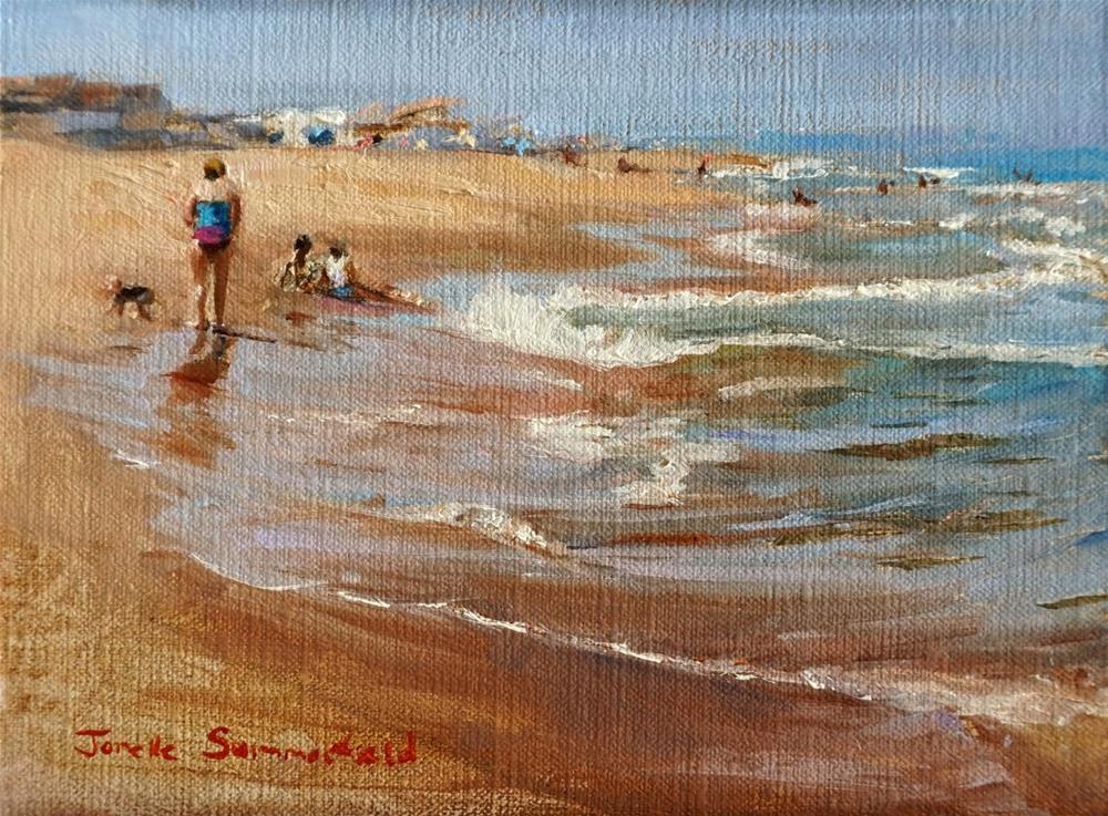 """Afternoon at Sandbridge"" original fine art by Jonelle Summerfield"