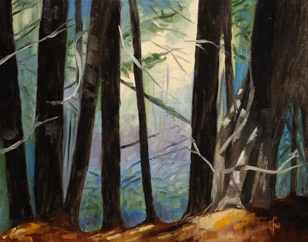 """Shady Woods"" original fine art by Gary Westlake"
