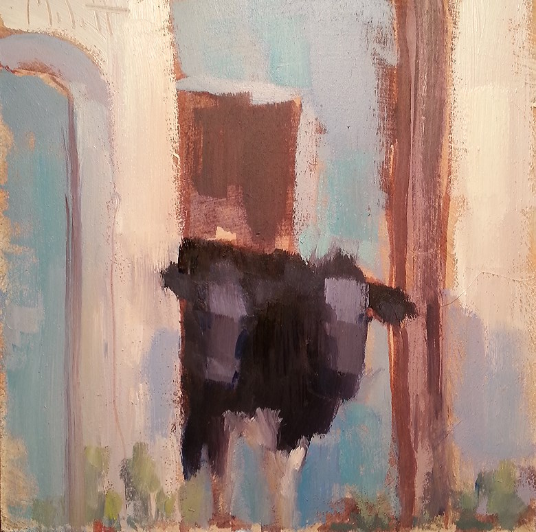 """Cows Contemporary Impressionism Daily Oil Painting"" original fine art by Heidi Malott"
