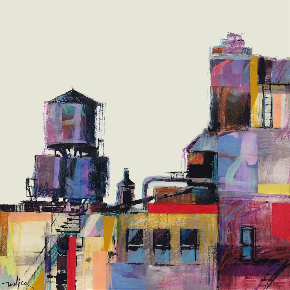 """33rd Street Watertowers, NYC"" original fine art by Patti Mollica"