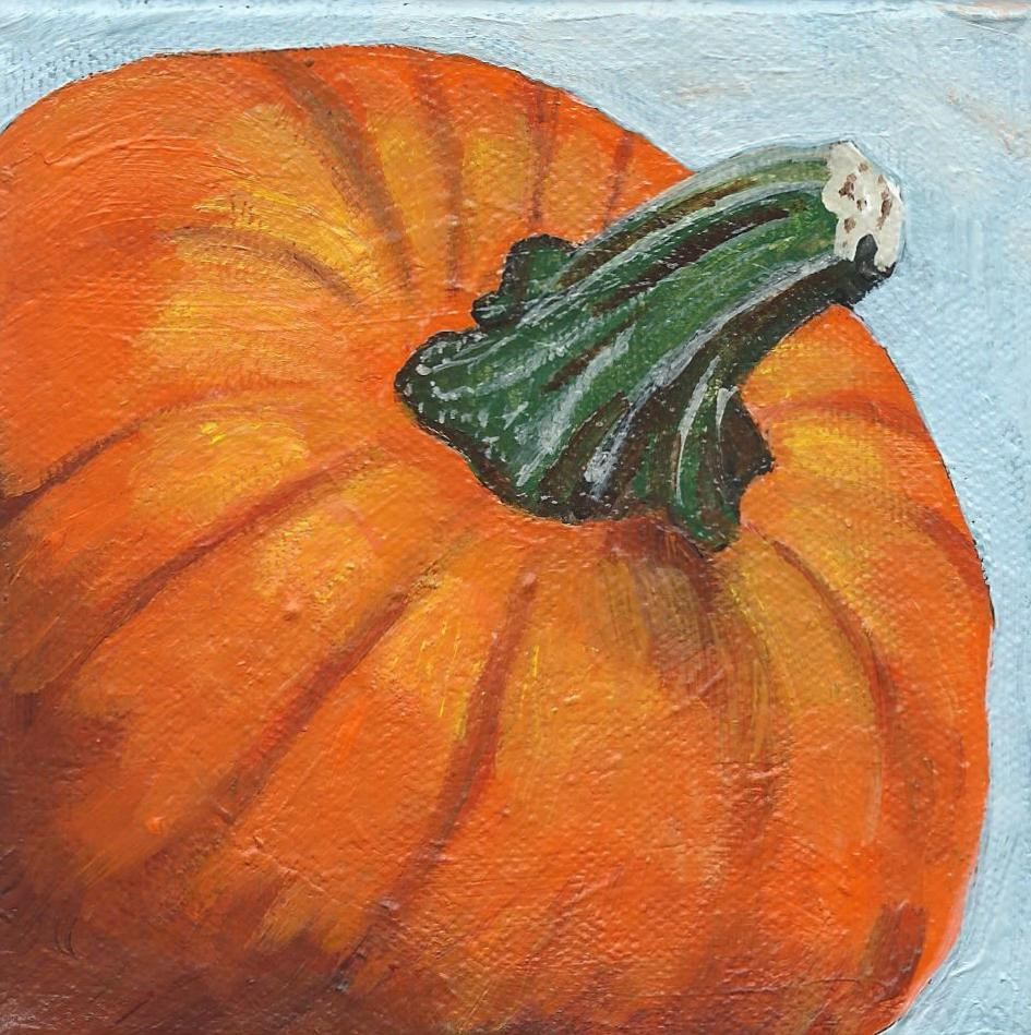 """Small Pumpkin"" original fine art by Lisa Wiertel"