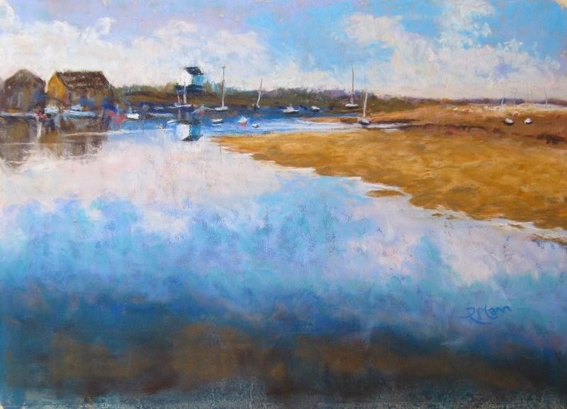 """""""Wells Harbour"""" original fine art by Ruth Mann"""