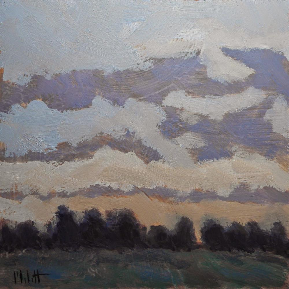 """Setting Sun Landscape at Dusk"" original fine art by Heidi Malott"