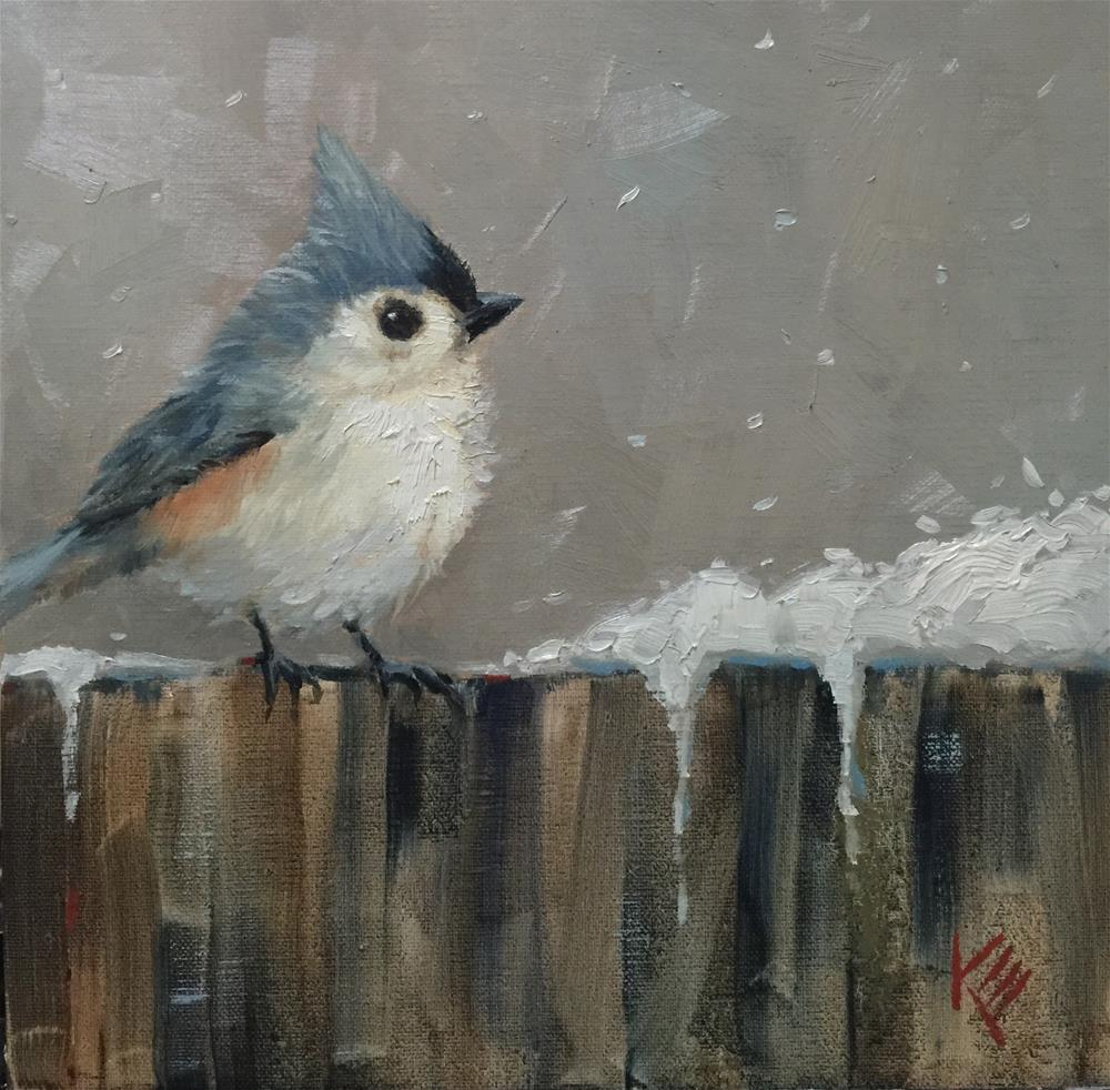 """Titmouse & Flurry"" original fine art by Krista Eaton"