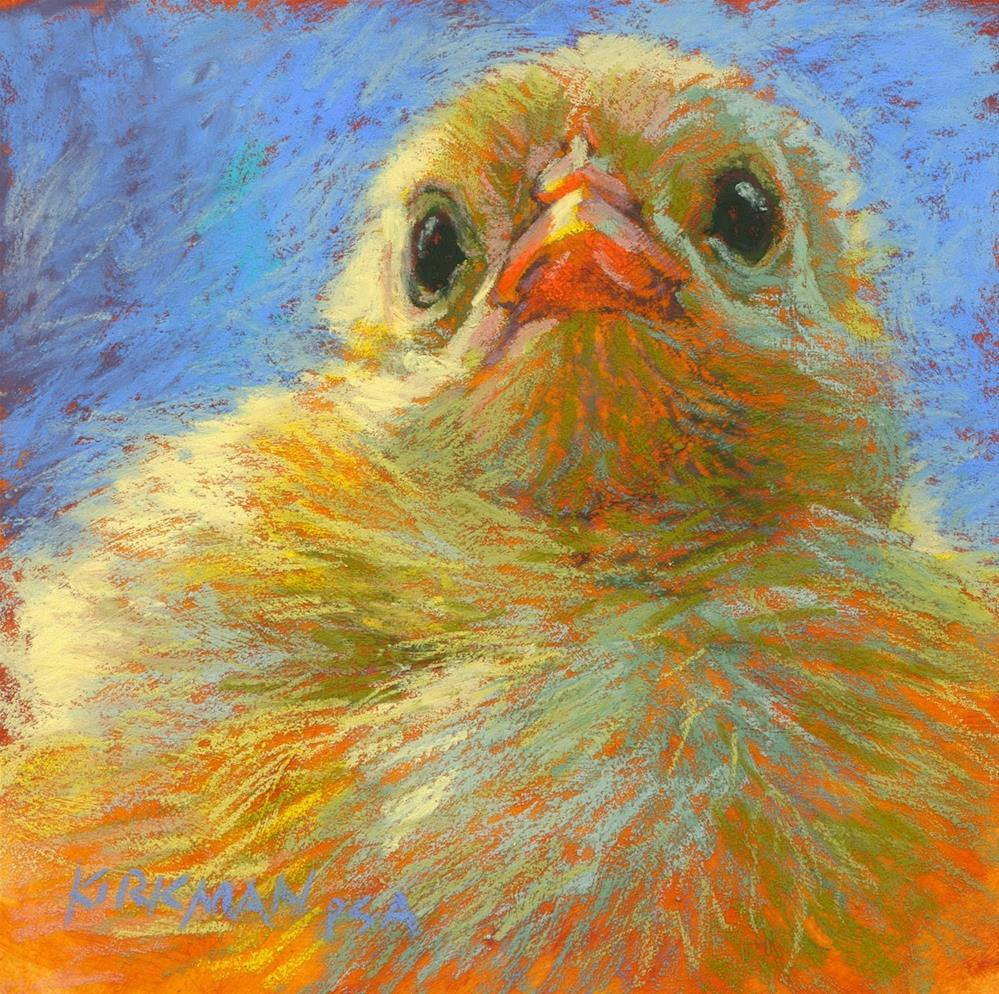 """Chick on a Pedestal"" original fine art by Rita Kirkman"