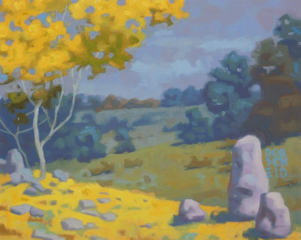 """Tranquil Pasture"" original fine art by Les Dorscheid"
