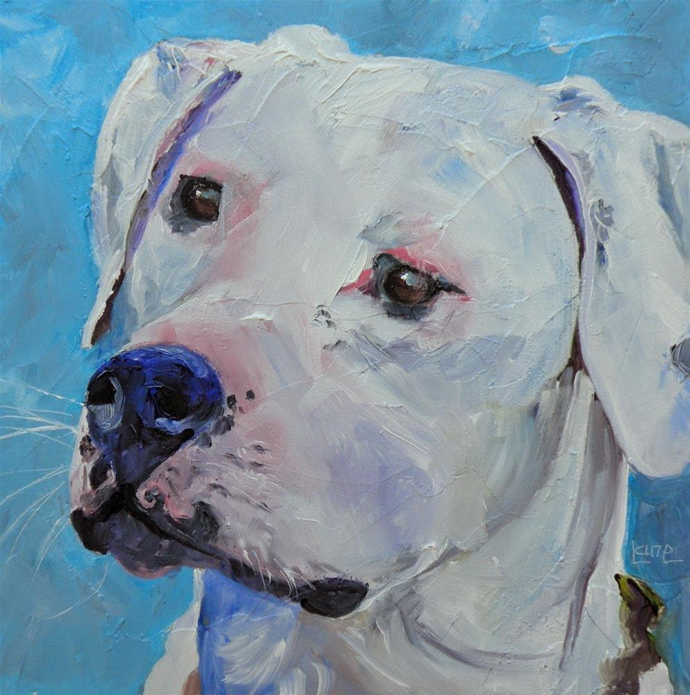 """DUKE 2/100  100 PET PORTRAITS IN 100 DAYS © SAUNDRA LANE GALLOWAY"" original fine art by Saundra Lane Galloway"