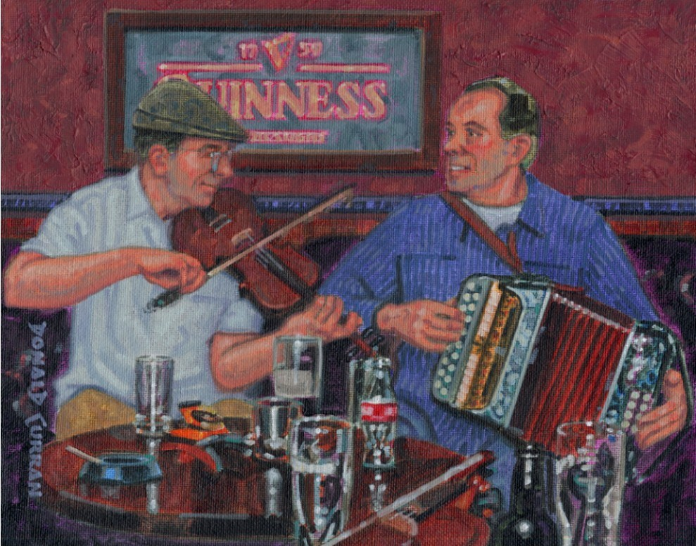 """Pub Music"" original fine art by Donald Curran"