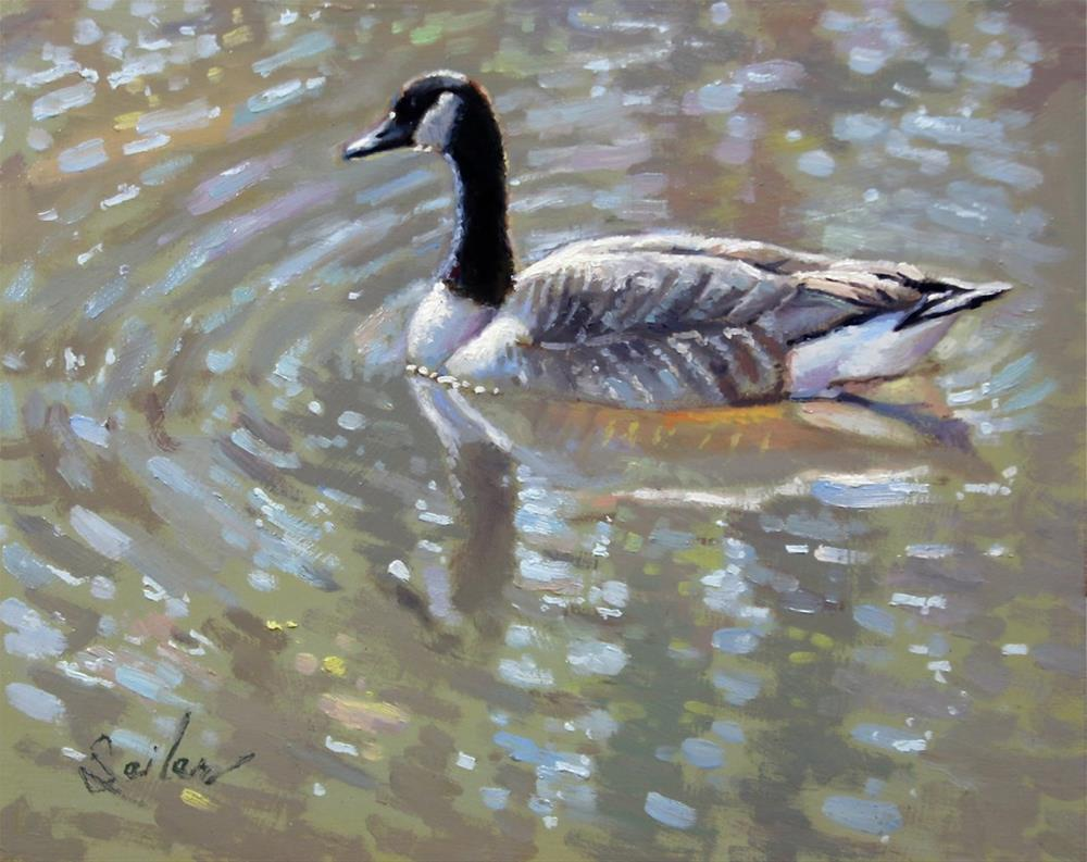 """That Pensive State and the Gander"" original fine art by Larry Seiler"