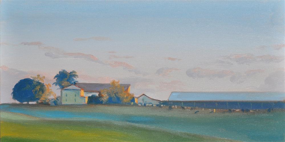 """Early Morning Farm"" original fine art by Heather Bullach"