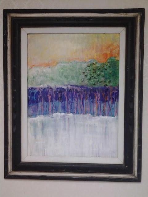 """Autumn Sunset, artist Barbara Lemley"" original fine art by Barbara Lemley"