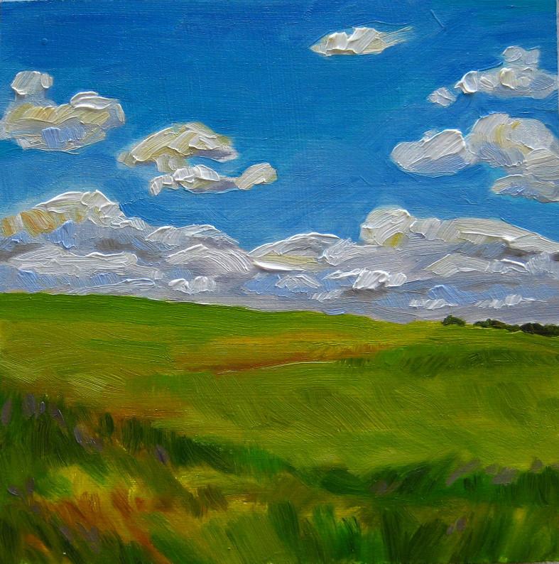 """Fresh Air"" original fine art by Nicki Ault"