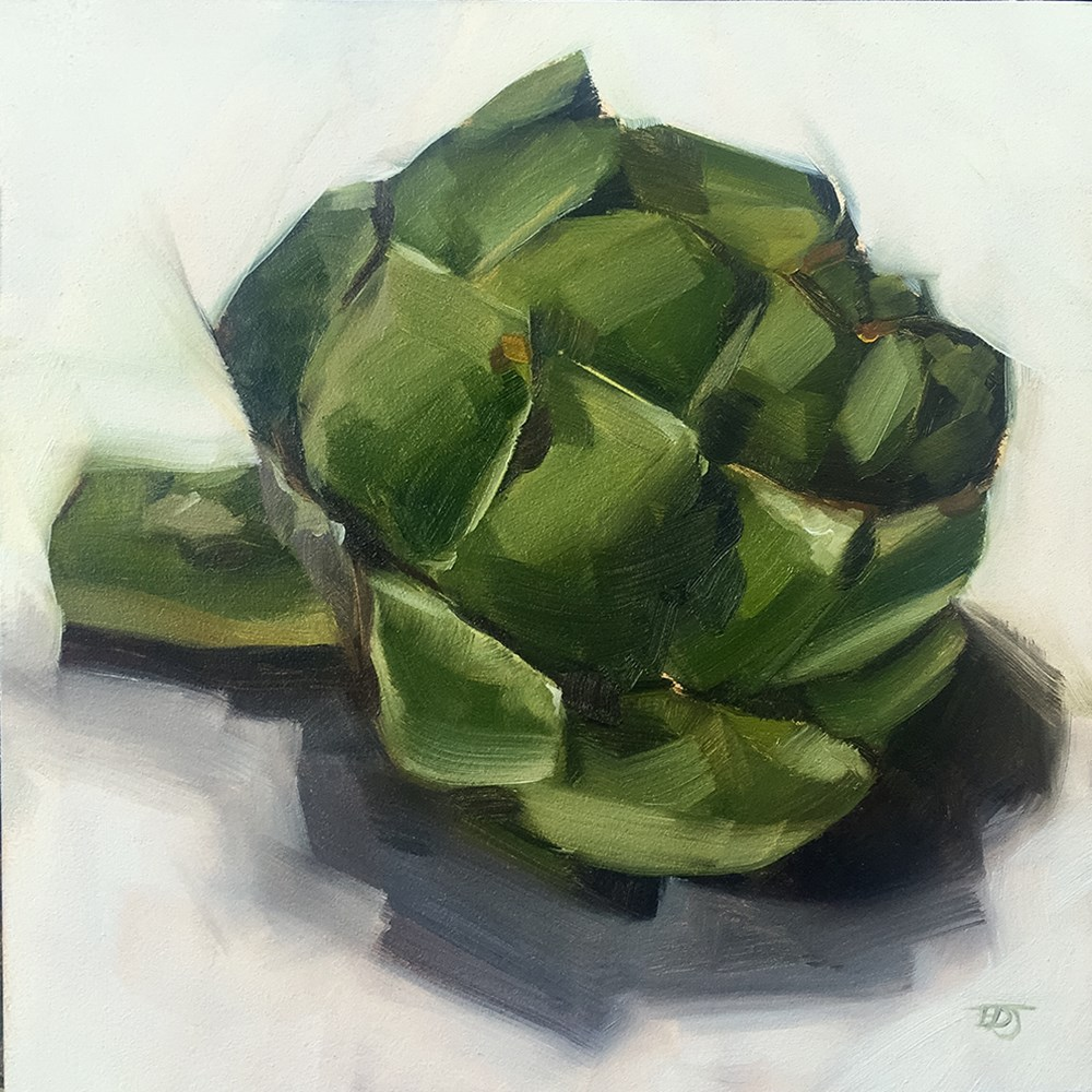 """Artichoke"" original fine art by Elizabeth Dawn Johnston"