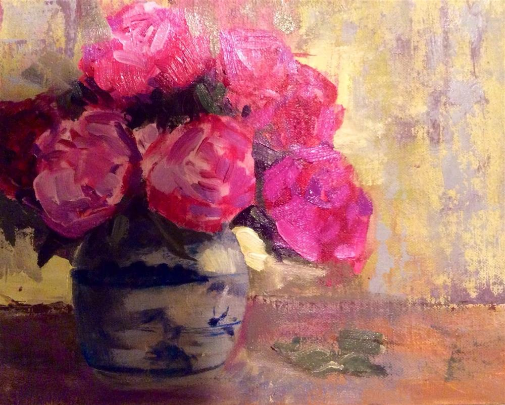 """Pot of Peonies"" original fine art by Charlotte Lough"