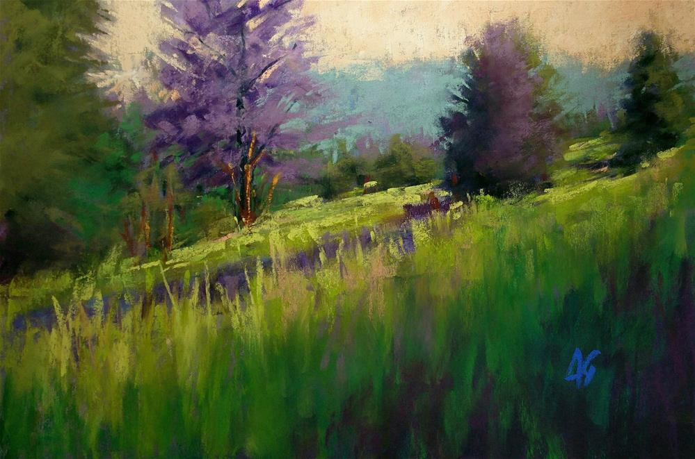 """Breaking thru green"" original fine art by Alejandra Gos"