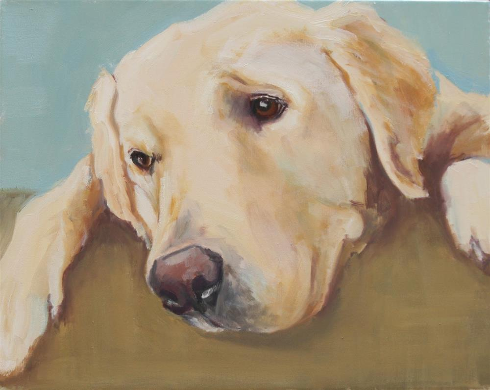 """dog tired"" original fine art by Carol Carmichael"