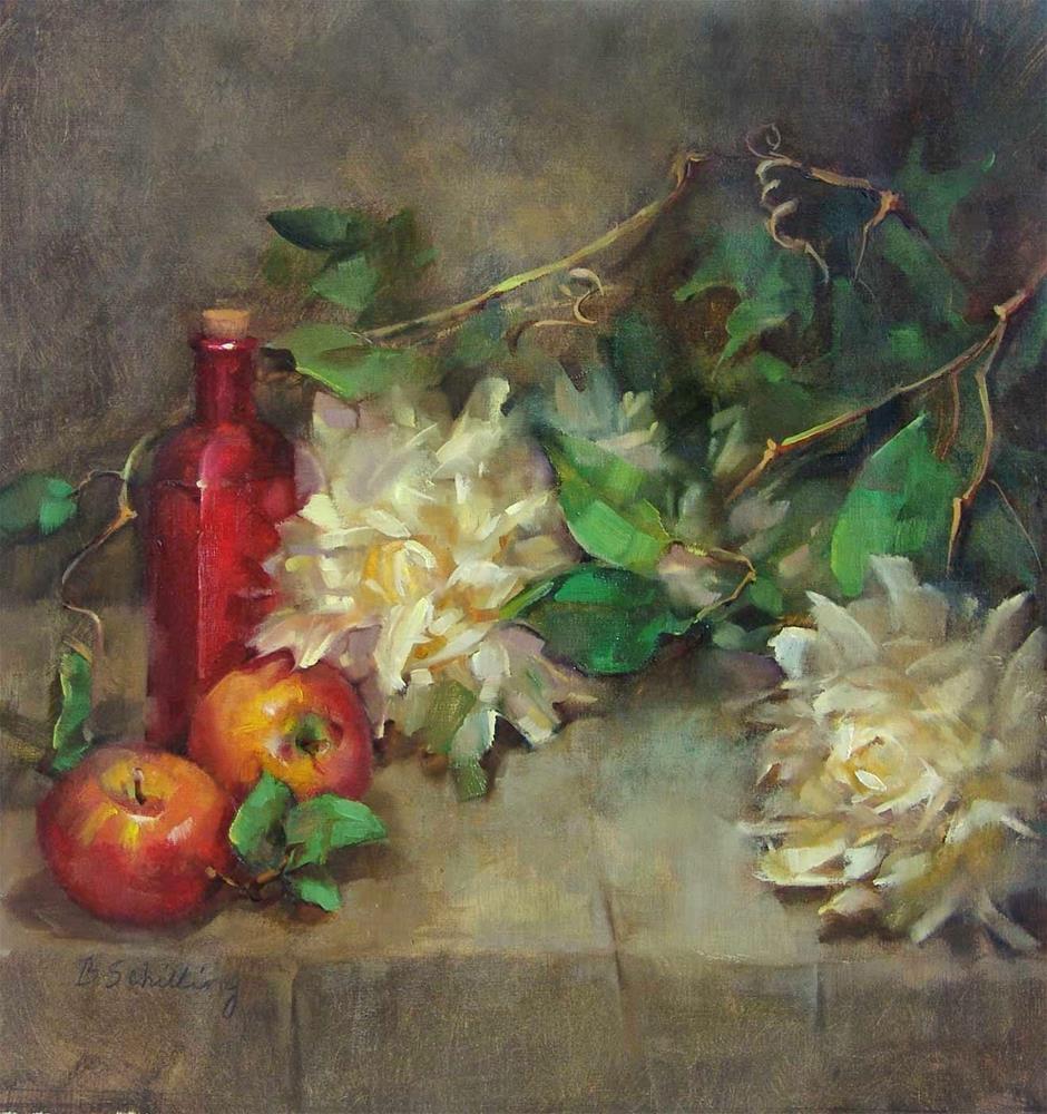 """DeliStar Mums"" original fine art by Barbara Schilling"