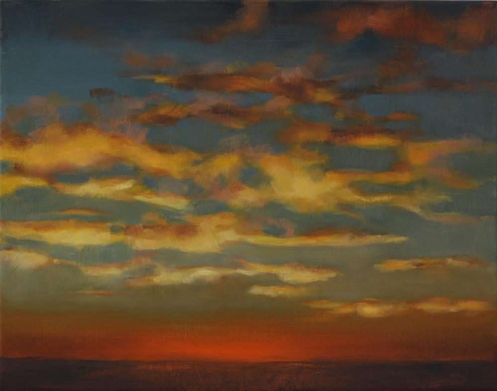 """""""Prairie Sunrise (framed)"""" original fine art by Pamela Poll"""