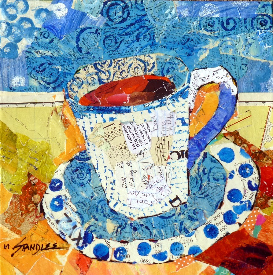"""Yes, Coffee 13074"" original fine art by Nancy Standlee"