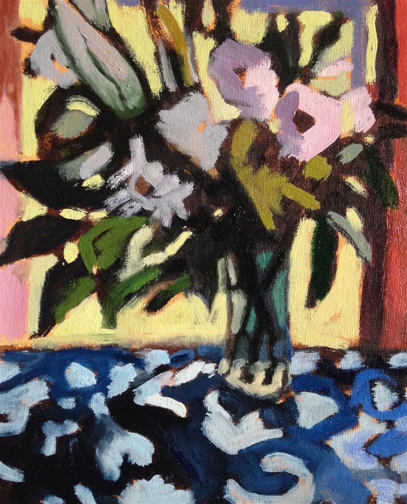 """White Bouquet"" original fine art by Pamela Hoffmeister"