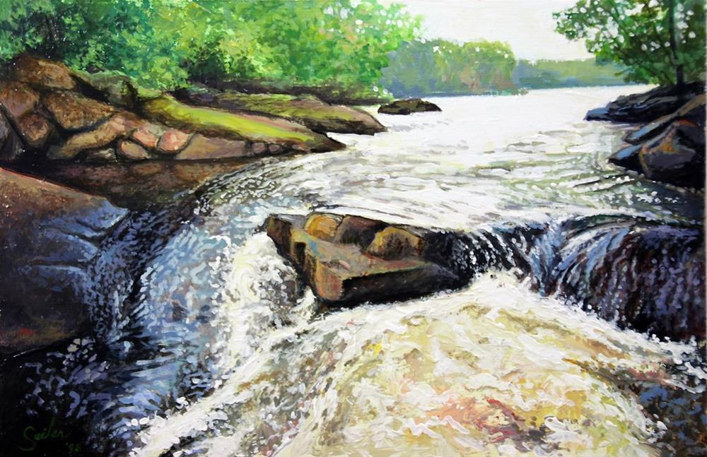 """Meandering Falls"" original fine art by Larry Seiler"
