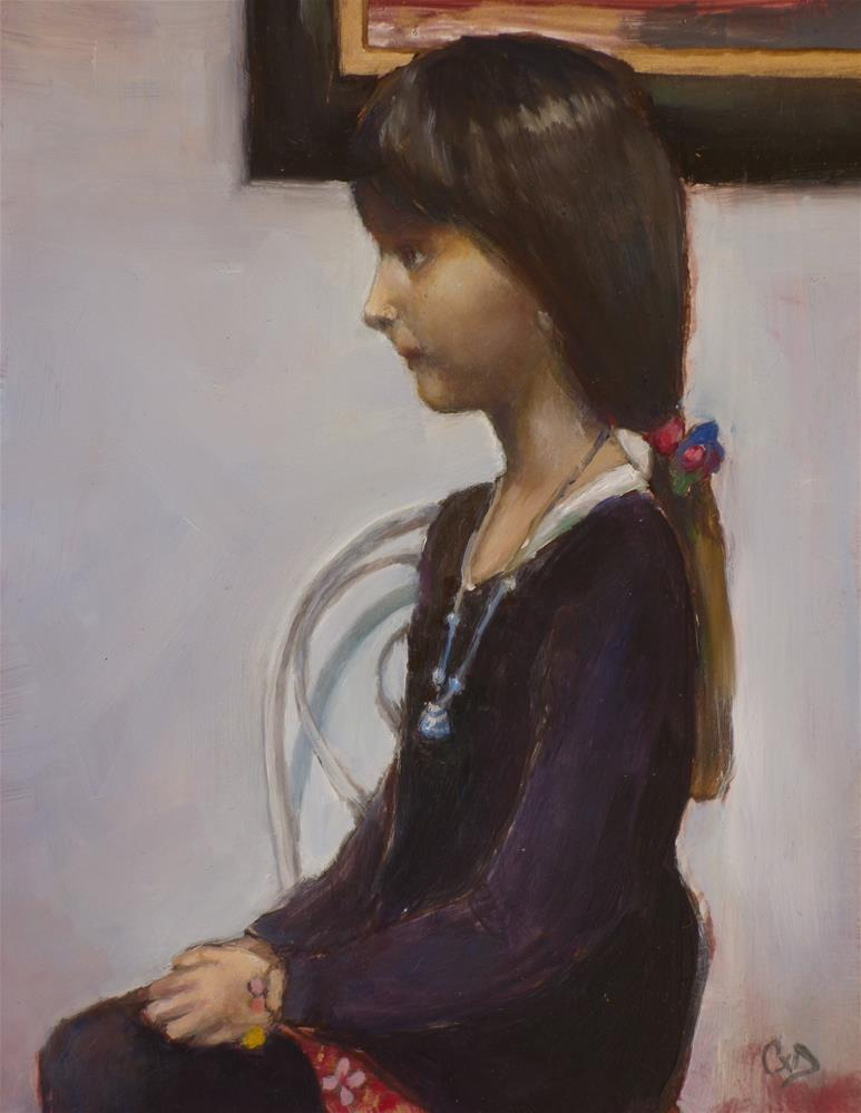"""Mini Miss"" original fine art by Christine Angelotta Dixon"