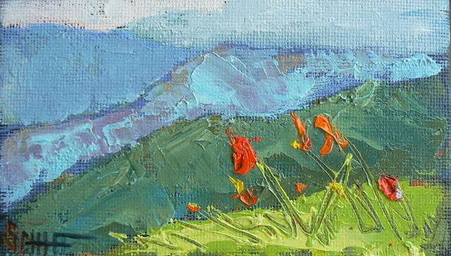 """Daily Paintings in a Mini Size, Original Oil Landscapes 3x5"" original fine art by Carol Schiff"